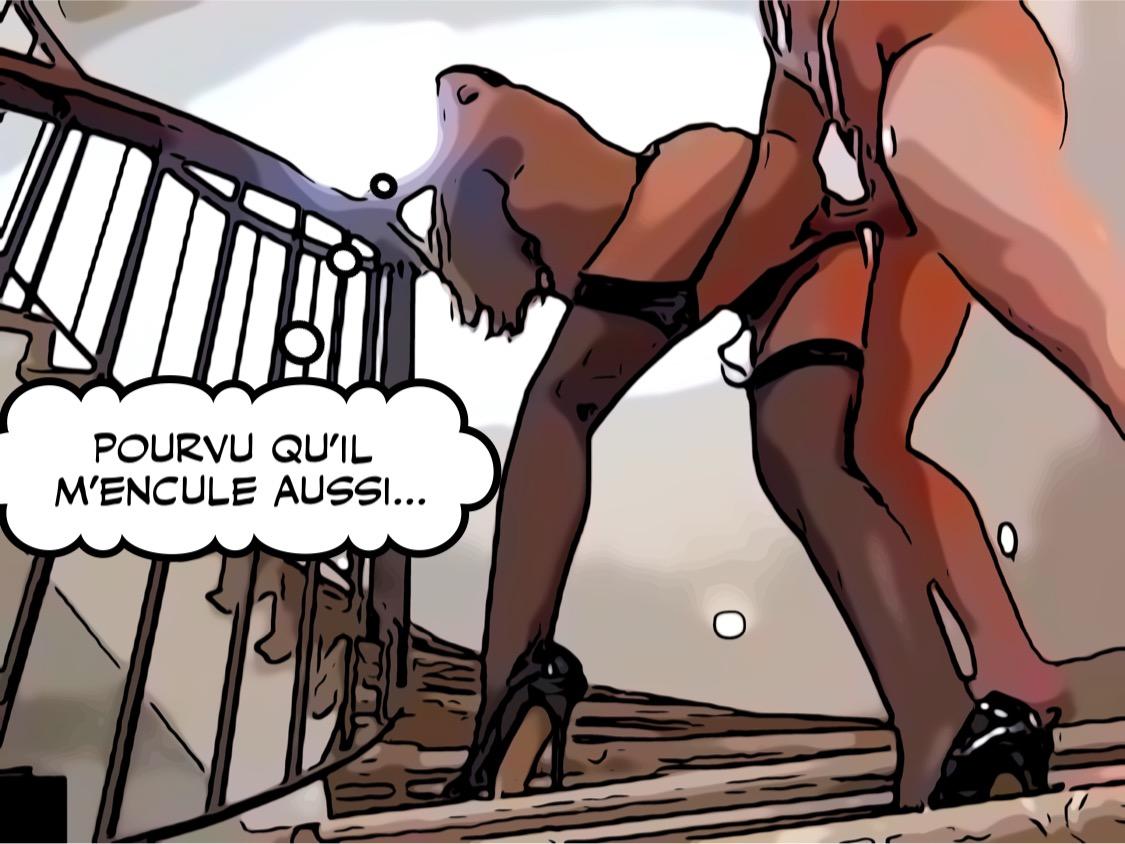 Baisée debout dans l'escalier